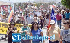 SIN VIOLENCIA.- Así serían las marchas que todos en San Felipe están dispuestos a apoyar y hasta participar.