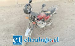 Esta es la moto donde se movilizaba el joven de 18 años de edad.