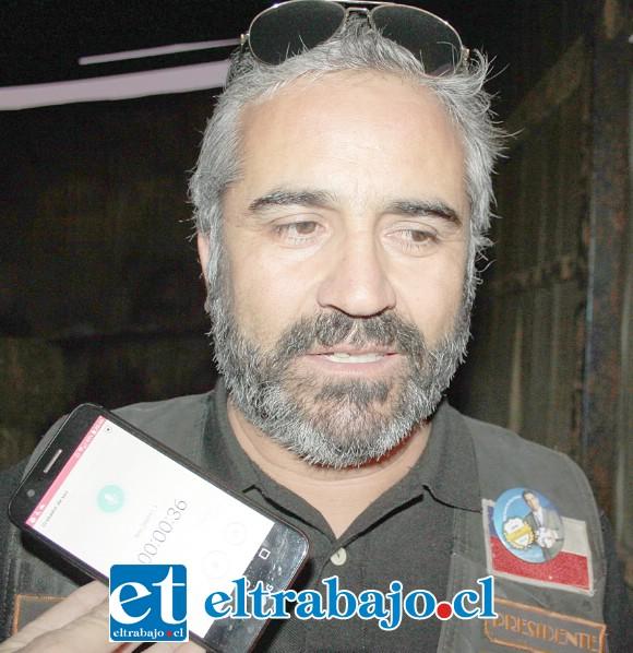 José Zúñiga Peralta, representante del Cóndor Club Santa María.