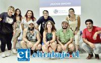 ELLOS AL FRENTE.- Aquí vemos a parte del equipo San Felipe de la ONG Proyecto Reinserción, en sus jornadas de inducción, las cuales se realizaron recientemente con el objetivo de prepararlos para sus primeros trabajos voluntarios en contextos privativos de libertad.