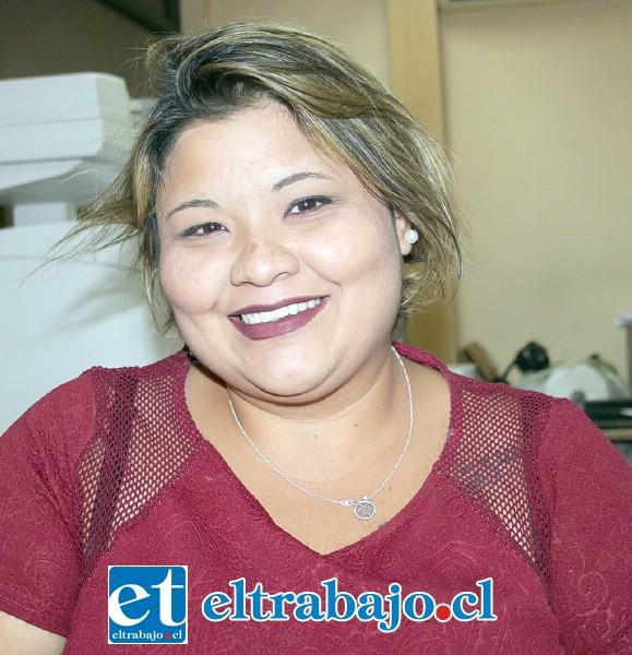 Daniela Rojas, coordinadora del Equipo San Felipe.