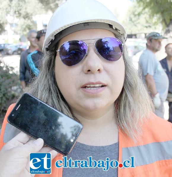 Jefa de proyectos de la empresa a cargo, Giovanna Marchant.