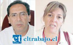 Mauricio Quiroz y Patricia Boffa, ambos querellados por el alcalde Patricio Freire.
