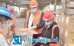EXPONTACIONES CONTINÚAN.- El empresario nos informó que actualmente les falta exportar 60.000 casas de uva a los mercados internacionales. (Referencial)