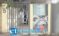 Frontis del Servicio Médico Legal de San Felipe.