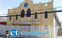 Uno de los principales templos de la Iglesia Evangélica, es el que está ubicado en calle Navarro 365 de San Felipe.