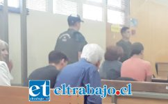 Los imputados en la audiencia de formalización. Finalmente quedaron en prisión preventiva.