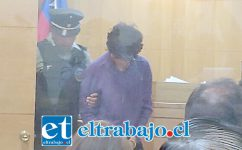 El imputado Cristian Andrés Muñoz Muñoz el día de control de detención.