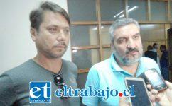 Marcelo Mazuela y Wladimir Tapia el día de las alecciones.