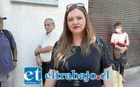 Rosa Olivares, vocera de los trabajadores de parquímetros que quedaron cesantes.