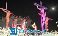 CRISTO EN SOLITARIO.- Estas imágenes vividas en 2018 en el Cristo de Rinconada de Silva, este año no estarán, pues la pandemia del Coronavirus lo impide.