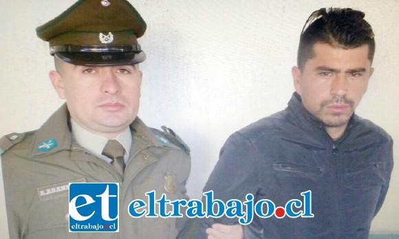 Jorge Espinoza Villarroel, fue condenado a siete años de cárcel por el delito de robo con intimidación, cometido en la comuna de San Felipe.