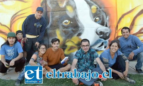 ESPECTACULAR.- Aquí tenemos uno de los trabajos creados por los muralistas aconcagüinos Pablo Poblete, Sabina Castro, Felipe Barraza, Cristian y Catalina Villegas.