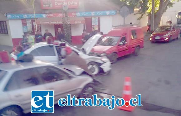 El accidente se originó alrededor de las 07:50 horas de ayer miércoles en la ruta Troncal (Ex 60 Ch) esquina calle Antofagasta en Panquehue.