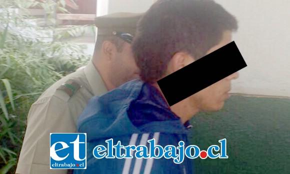Alfredo Peralta Órdenes, de 20 años de edad, fue formalizado por el delito de homicidio frustrado, quedando en custodia de Gendarmería mientras la Corte resuelve si debe quedar o no en prisión preventiva.