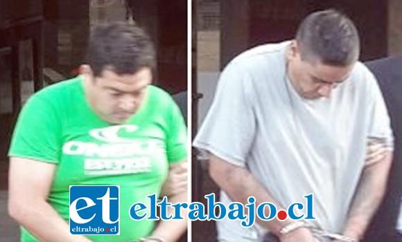 Ambos imputados domiciliados en San Felipe fueron formalizados en tribunales, quedando bajo la cautelar de prisión preventiva.