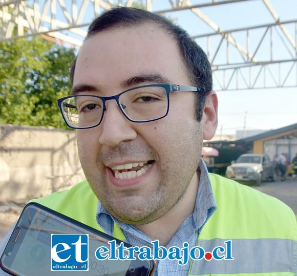 Diego Arancibia, Relacionador Público de Bomberos de Santa María.