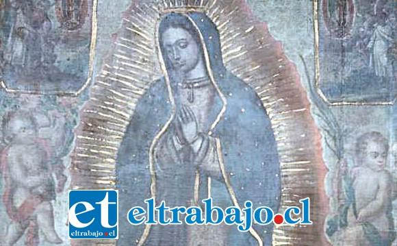 OBRA INVALUABLE.- Esta pintura al óleo de la Virgen de Guadalupe fue hecha entre 1748 y 1768, en nuestro país.