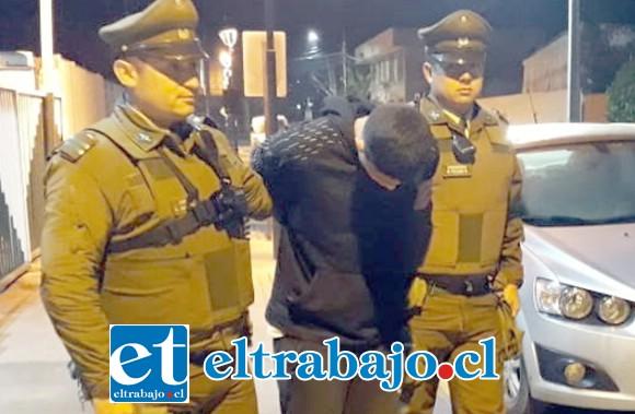 El delincuente conocido como 'Patito Pate Lija' fue capturado por Carabineros, quedando a disposición de la Fiscalía.