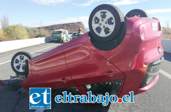 El accidente de tránsito se registró alrededor de las 10:00 horas del jueves en la Autopista Los Andes.