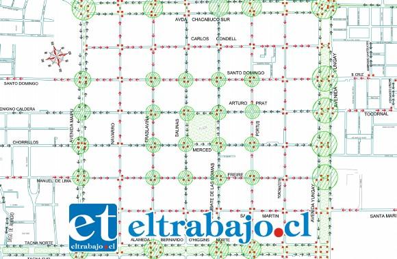 Solo las calles que rodean la Plaza de Armas y las cuatro avenidas se mantendrán tal como hoy. Todas las restantes del damero central cambiarán su sentido de tránsito.