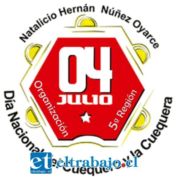Este es el logo de la celebración del día del Cuequero y Cuequera.