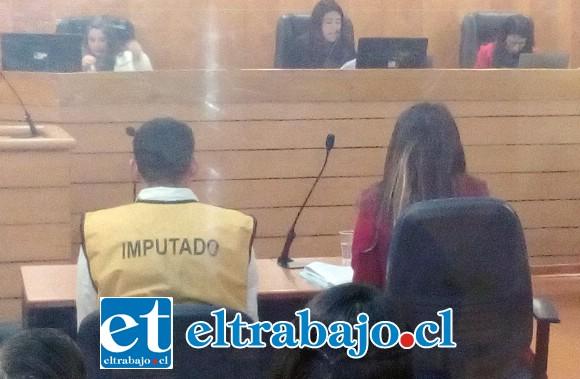 El imputado Walter Campos durante la audiencia de inicio de juicio.