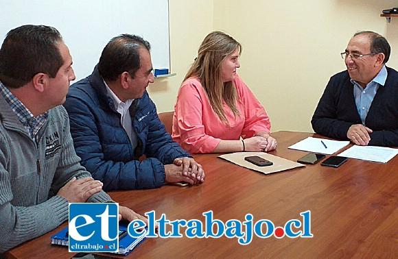 Una reunión de trabajo y coordinación para abordar qué acciones seguirán luego de la Declaración de Zona Saturada por MP10 para las comunas de Llay Llay, Catemu y Panquehue sostuvo el gobernador de la provincia de San Felipe, Claudio  Rodríguez y la Seremi de Medioambiente, Victoria Gazmuri.