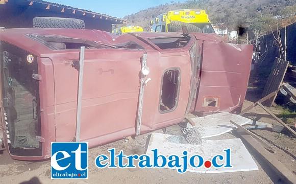 El accidente ocurrió la mañana de ayer jueves en el sector Las Coimas de Putaendo.