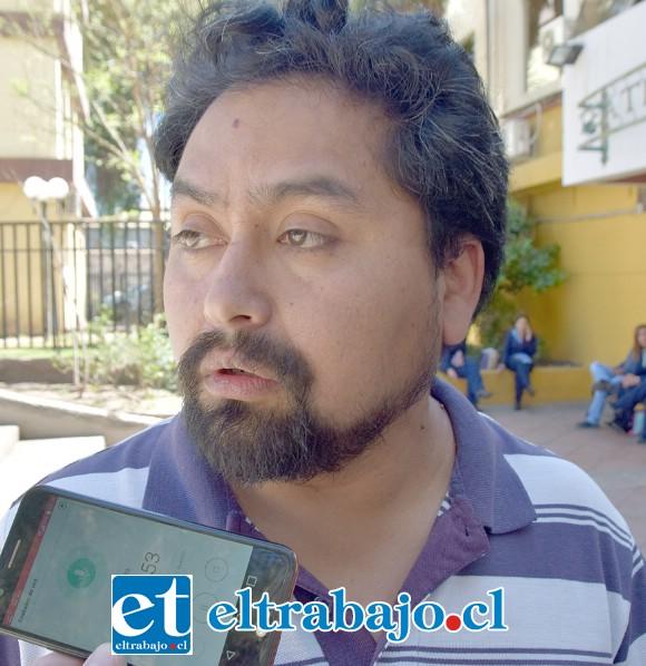 Miguel Santana, vicepresidente de la Confederación de Trabajadores del Cobre y dirigente de la CUT San Felipe.