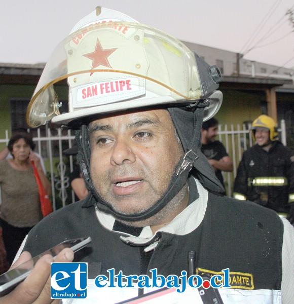 Comandante de Bomberos Juan Carlos Herrera Lillo.