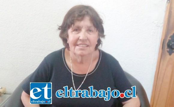 Hortensia, paciente que denuncia públicamente la situación para que las autoridades tomen cartas en el asunto.