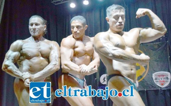 LOS FORTACHONES.- Rolando Burgos, Luis Ahumada y Héctor Román impresionaron al público y al Jurado.
