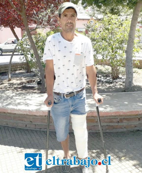 El vecino de Putaendo, Pedro Gallardo Muñoz requiere ayuda de la comunidad tras sufrir un grave accidente en San Felipe.