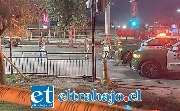 Los hechos ocurrieron en calle Hermanos Carrera esquina Encón de San Felipe.