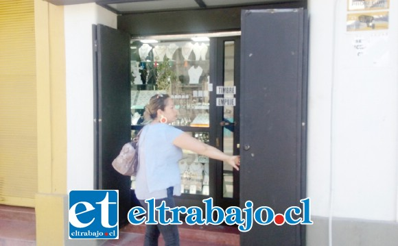 Esta es la joyería ubicada en calle Prat, pleno centro de San Felipe.