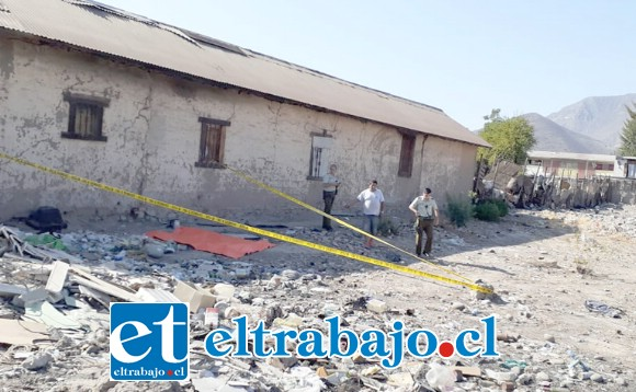 El cuerpo del recién nacido fue hallado en este microbasural ubicado en calle Ducó de San Felipe.