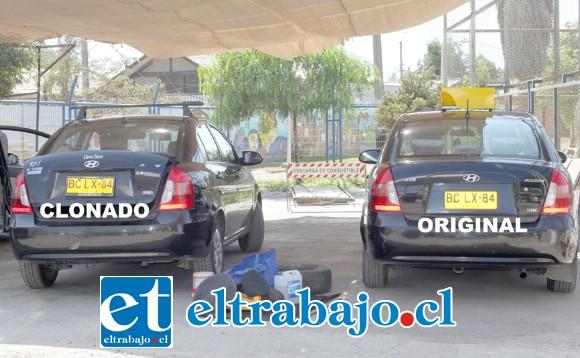 ¿CUÁNTOS MÁS HABRÁN?- Estos son los dos vehículos del problema, a la izquierda vemos el clonado, y a la derecha el original.