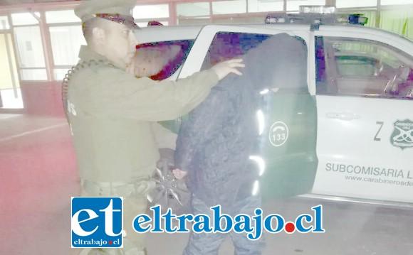 El antisocial fue capturado por Carabineros de la Subcomisaría de Llay Llay el 9 de julio del año pasado. (Fotografía Referencial).