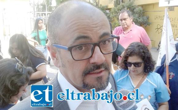 Patricio González, administrador municipal.