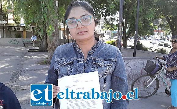 Paola Herrera Gallardo presidenta de la junta de vecinos Calle Larga de Las Coimas.