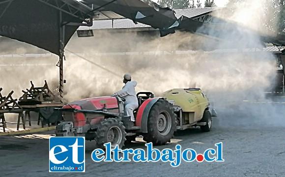 Esta limpieza profunda se seguirá realizando todos los meses en ese importante punto de comercio agrícola.