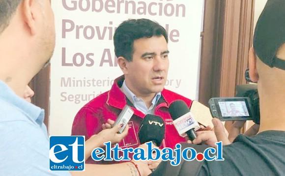 Gobernador de Los Andes, Sergio Salazar Vargas.