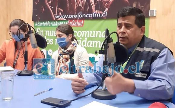 ALCALDE REPORTÓ LOS CASOS.- El alcalde Claudio Zurita hizo el anuncio en Radio Orolonco el día de ayer.