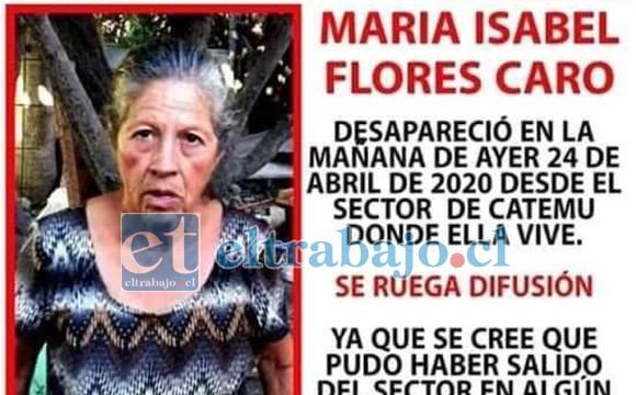 María Isabel Flores Caro apareció viva para alegría de su familia y seres queridos.