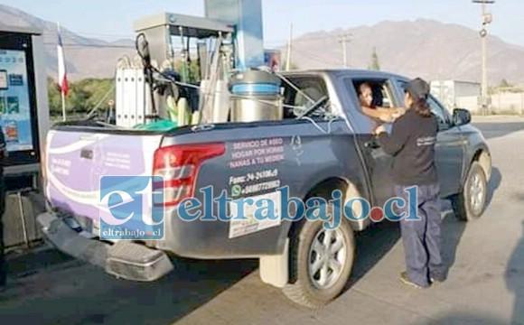 Esta es la camioneta robada que fue robadas por asaltantes que se movilizaban en motocicletas.