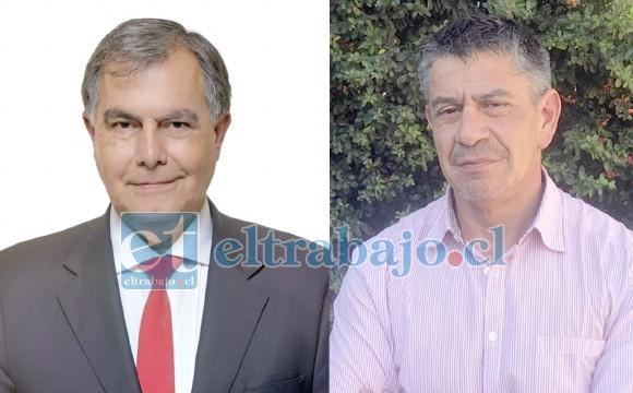 Concejal sanfelipeño Christian Beals y Mauricio Mass Santibáñez, abogado de la Municipalidad.