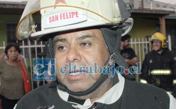 Comandante Juan Carlos Herrera Lillo no descartó que el incendio haya sido intencional.