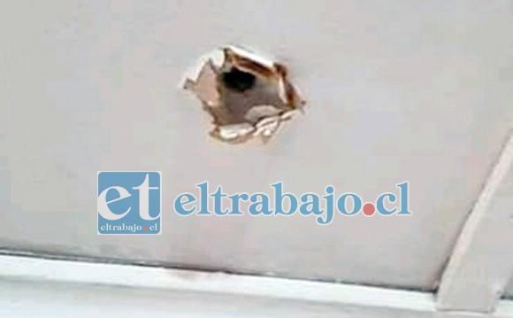 Este fue el orificio en el domicilio de Villa Las Acacias tercera etapa.
