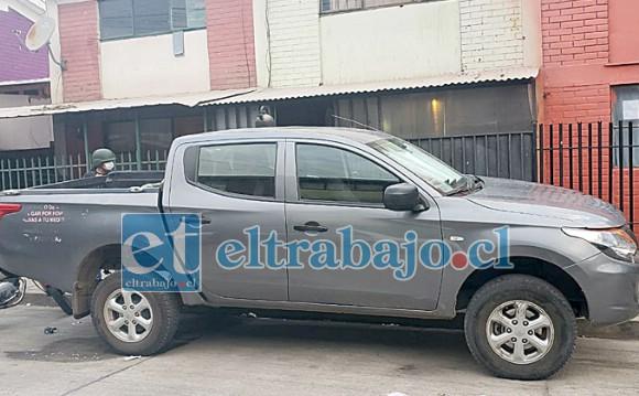 Esta es la camioneta recuperada por personal de la SIP de Carabineros en el sector de Las Cuatro Villas.